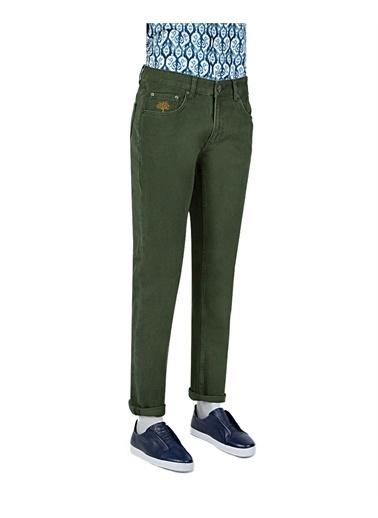 Tween Super Slim Fit Desenli Chino Pantolon Haki